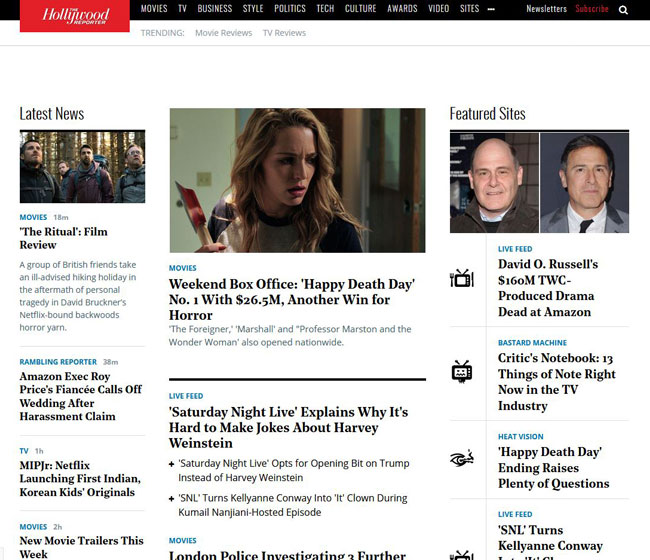 Hollywood Reporter - Raw Data software app example