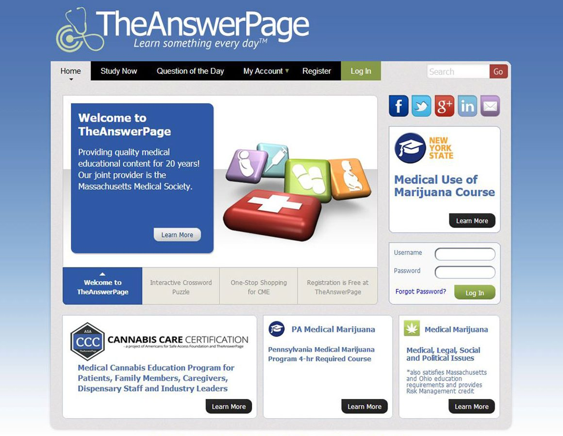 The Answer Page - Raw Data software app example