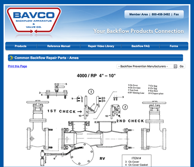 BAVCO - Raw Data software app example